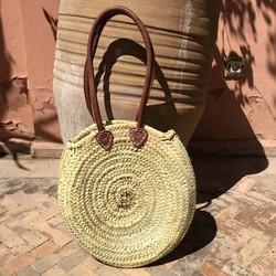 Myroundie - Roundie Bag - Ronde Ibiza Boho Tas 17 - Hand gevlochten Palmblad Tas - Maat L
