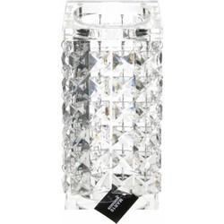 Kaarsenhouder Abriès Helder Medium  20cm 100% Kristal Glamour