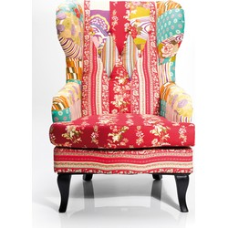 Kare Design Fauteuil Wing Patchwork Red - Multi