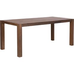 Eettafel hout donkerbruin 150 x 85 cm NATURA