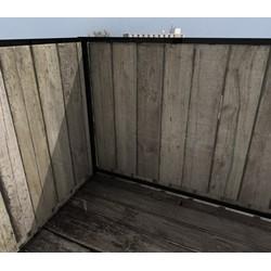 Balkonafscheiding planken verticaal (100x100cm Dubbelzijdig)