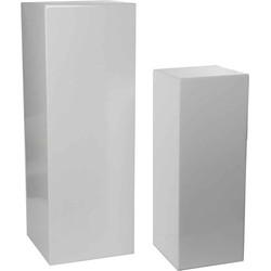 Mica Decorations set van twee zuilen vierkant jula maat in cm: 34.5 x 34.5 x 97 wit