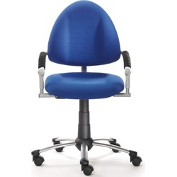 24Designs Kinderbureaustoel Skool - Blauw