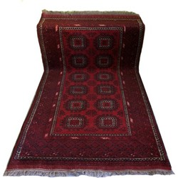 Vintage handgeknoopt wollen vloerkleed Persia 200x100cm