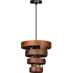 ETH hanglamp Walnut 4 rings