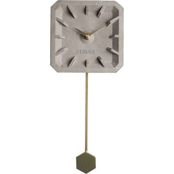 Zuiver Klok TikTak brass beton 37,5 x 15,5 x 4