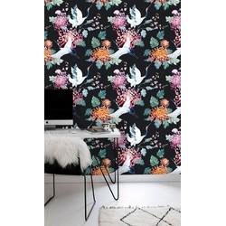 Vliesbehang Watervogel multicolour  122x122 cm