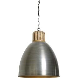Hanglamp KEILA - Vintage Tin-Goud Met Houten Kop - M