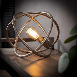 Tafellamp Ø30 atoom / Antiek Nikkel