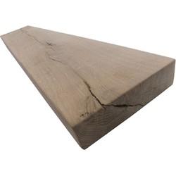 Eiken rustiek 125cm - stalen plankdragers 2 st.
