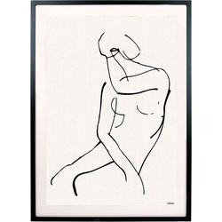 HK-living kunstlijst met afbeelding vrouw zwart wit
