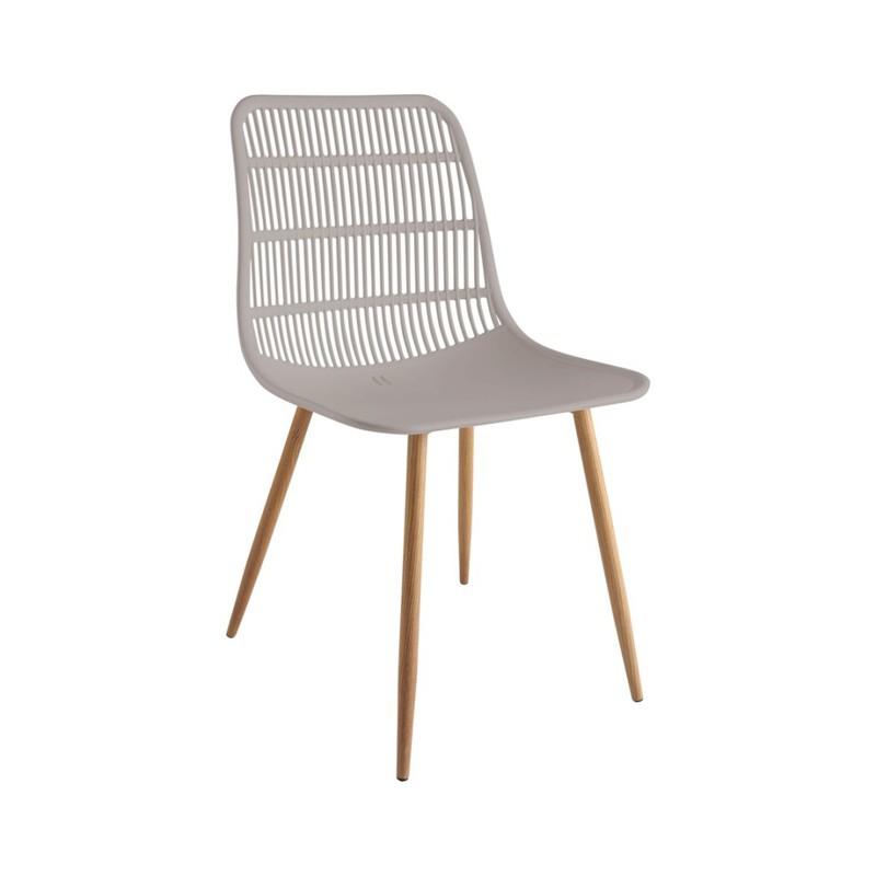 Tamy - Set van 4 stoelen - Taupe -