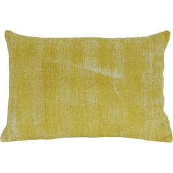 Light&Living Sierkussen Izmir geel langwerpig 60 x 40