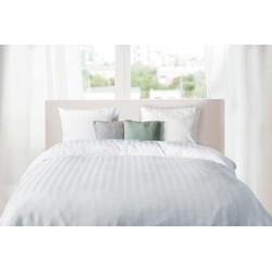 Elegance Dekbedovertrek Hotel Kwaliteit Satijn Streep - wit 140x200/220cm