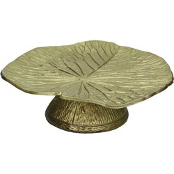 Kersten etagère Leaf goud 10x27x28cm