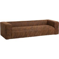 Cloudy lounge - Sofa - 4-zit - leder - bruin -gewolkt