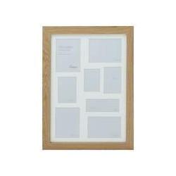 Linea Pale wood 8 aperture photo frame