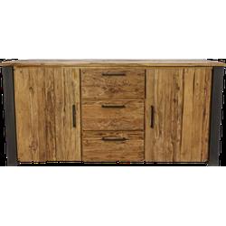 Sideboard Atlanta - rustiek oud teak/metaal