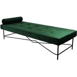 Kick Velvet Chaise Lounge - Puck - Groen