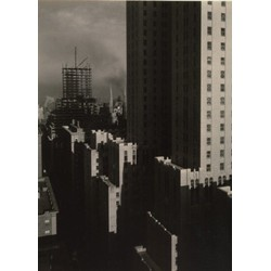 Alfred Stieglitz - From My Window at the Shelton, West, 1931, gelatin silver print; Collection of The Metropolitan Museum of Art in New York from Vintage Photography by Fine Art