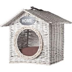 HOND-KAT HUISJE RIET 'HOME' 50X50XH50CM