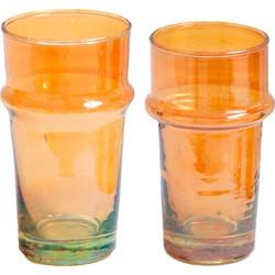 Traditioneel glas oranje M, L, XL, XXL - (M) medium