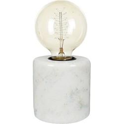 Braxton Marble Tafellamp 9 cm E27 - Wit