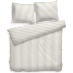 Dekbedovertrek Uni Stripe off-white - 100% Katoen-satijn