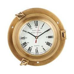 John Lewis Porthole Wall Clock, Brass