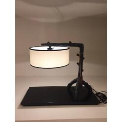 Fine Asianliving Chinese Tafellamp Metaal Zwart en Beige
