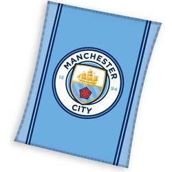 Fleece Deken Manchester City Logo 110x140 Fleece Dekens