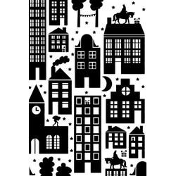 Villa Madelief Sinterklaas inpakpapier zwart wit 'Sint in the city'