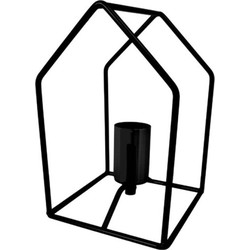Tafellamp huisje zwart