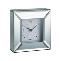John Lewis Simple Bevel Mantel Clock, Clear