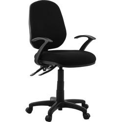 24Designs Bureaustoel Lizano - Stof Zwart