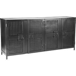 LABEL51 - Dressoir Gate 170x40x80 cm - Industrieel - Zwart