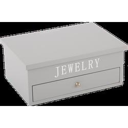 Juwelen doos groot Avantgarde grijs met zilveren letters