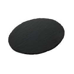 Just Slate Round Placemats, Set of 2