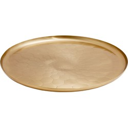 Nordal Dienblad Tray Brass Hexagon Gold Ø40