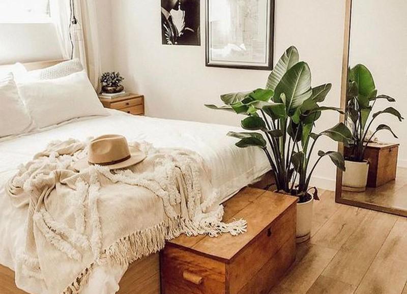 7x wit met hout in de slaapkamer