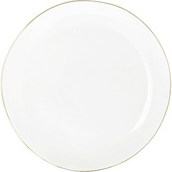 Riverdale Chic Dinerbord Porselein Wit/Goud - Ø28 cm