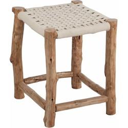 Nature - Kruk - vierkant - hout - geweven zit