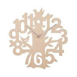 John Lewis Wooden Tree Clock, Natural