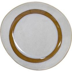 HK-living bord ontbijtbord keramiek snow seventies style Ø 22 cm