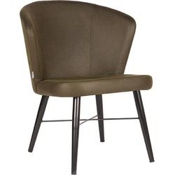 LABEL51 - Fauteuil Wave 64x68x79 cm - Industrieel - Army green