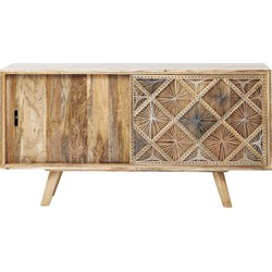 Kare Design Dressoir Coachella Nature - Hout - 160 X 85 X 45 Cm