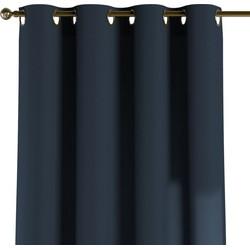Gordijn met ringen marineblauw
