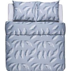 Nightlife Flanel Dekbedovertrek Feathers Blue-140x200/220