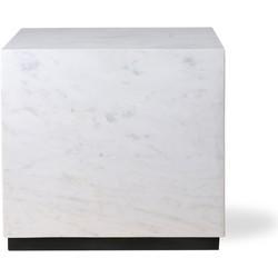 HKliving bloktafel marmer wit large 35x35x32,5 cm