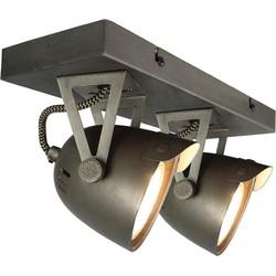 LABEL51 - Led Spot Cap 2-Lichts 32x10x14 cm - Industrieel - Grijs